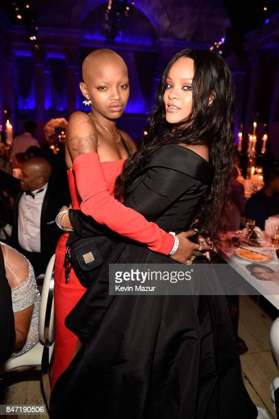 Slick Woods and Rihanna attend Rihanna's 3rd Annual Diamond Ball Benefitting The Clara Lionel Foundation at Cipriani Wall Street on September 14 2017...