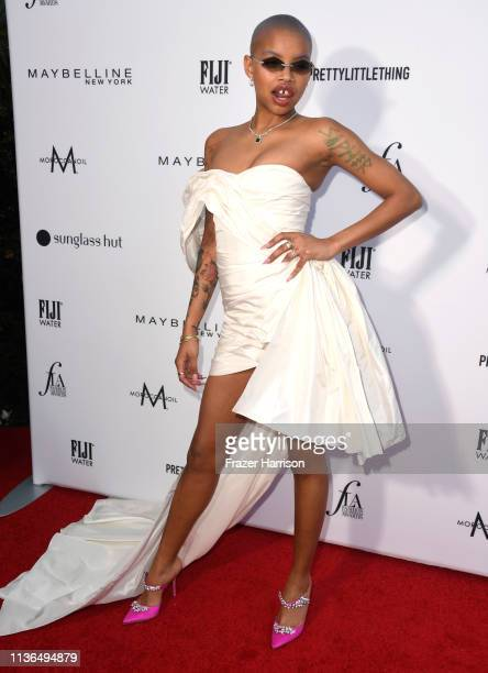 Slick Woods attends The Daily Front Row's 5th Annual Fashion Los Angeles Awards at Beverly Hills Hotel on March 17 2019 in Beverly Hills California