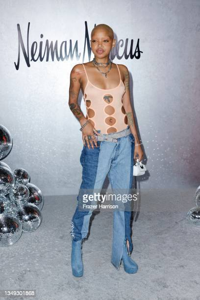 """Slick Woods attends the Neiman Marcus Celebrates The Launch Of Their """"Celebrate Big, Love Even Bigger"""" Holiday Campaign With 2021 Fantasy Gift Event..."""