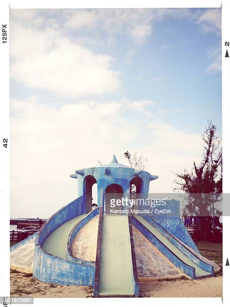 Slide against the sky at playground
