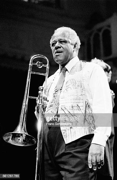 Slide Hampton, trombone, performs at the Paradiso on October 27th 1996 in Amsterdam, Netherlands.