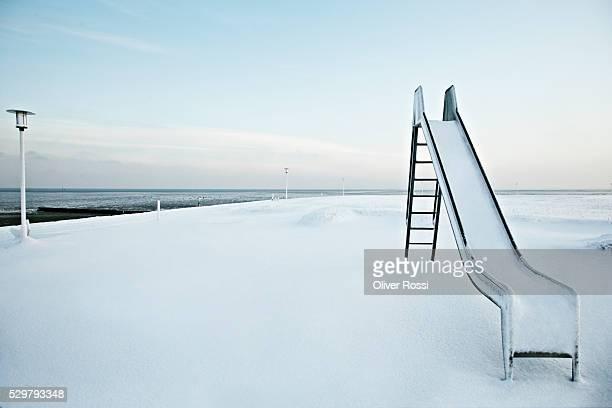 Slide in winter