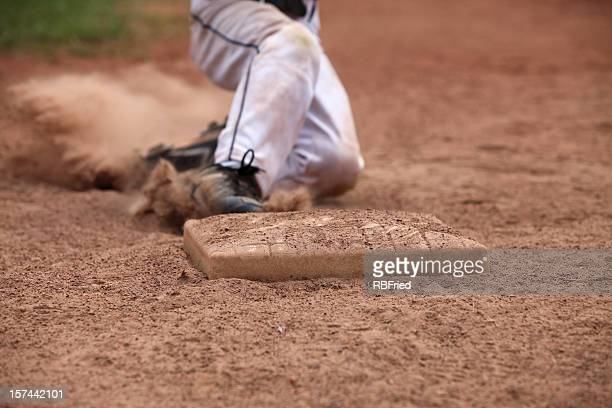 slide - baseball player stock pictures, royalty-free photos & images