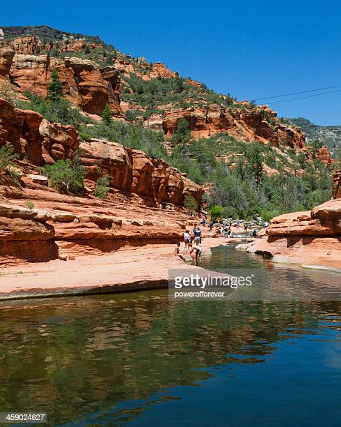 slide rock state park - state park stock pictures, royalty-free photos & images