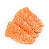 Slided Raw Salmon Sashimi