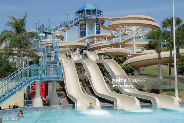 Slides at the Wet'n Wild water park
