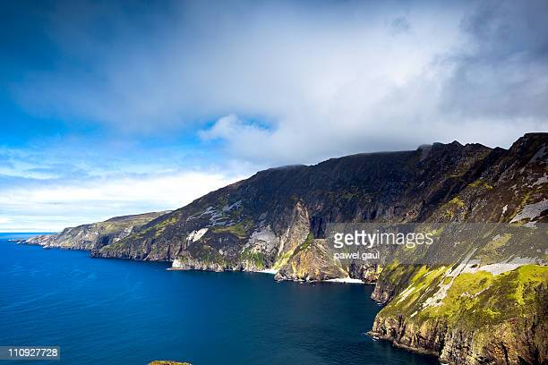 slieve league cliffs in ireland - county donegal stock photos and pictures