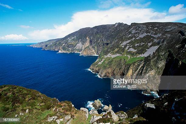 Slieve League the highest sea cliffs on the island of Ireland County Donegal Ireland