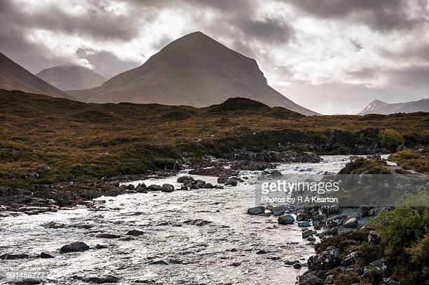 sligachan, isle of skye, scotland - glen sligachan photos et images de collection
