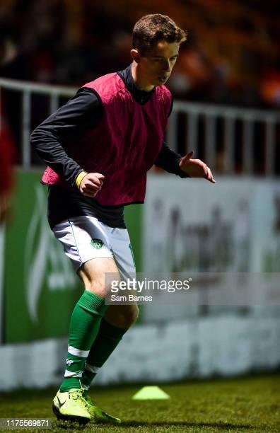 Sligo Ireland 11 October 2019 Harvey Neville of Republic of Ireland warms up during the Under19 International Friendly match between Republic of...