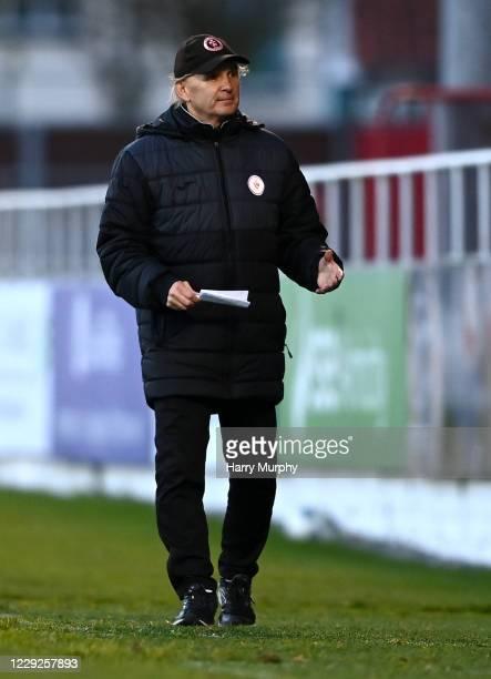 Sligo , Ireland - 24 October 2020; Sligo Rovers manager Liam Buckley during the SSE Airtricity League Premier Division match between Sligo Rovers and...