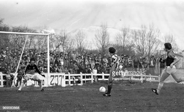 Sligo Rovers Vs Cobh Ramblers in Sligo circa April 1983