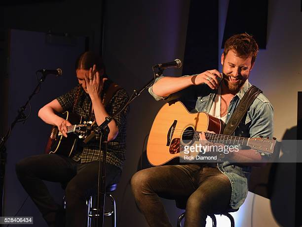 Slim and Charles Kelley of Lady Antebellum perform during a Special VIP Performance on May 4 2016 in Nashville Tennessee