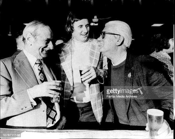 Slim de Grey having a beer with two people he has known for years On the left is Horrie Ingham who has known Slim for well over 30 years On the right...