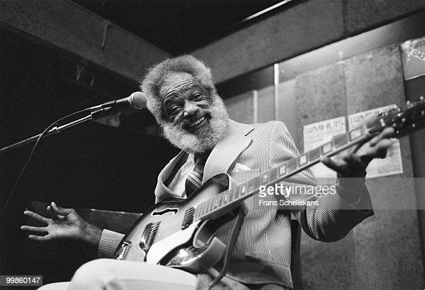 Slim Gaillard performs live on stage at Bimhuis in Amsterdam, Netherlands on November 05 1982