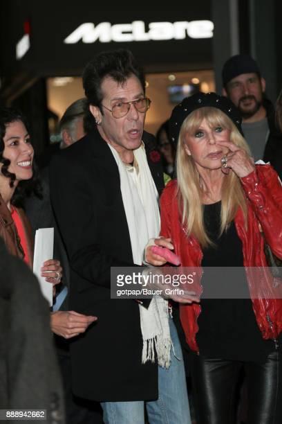 Slim Jim Phantom and Britt Ekland are seen on December 08 2017 in Los Angeles California