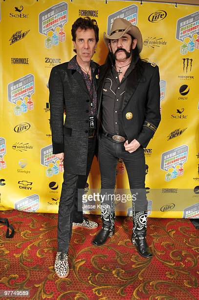 Slim Jim Phantom and Lemmy Kilmister attend the 'Lemmy' premiere at 2010 SXSW Festival at Paramount Theater on March 15 2010 in Austin Texas