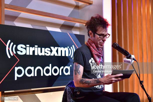 Slim Jim Phantom speaks during the press conference for THE STADIUM TOUR DEF LEPPARD MOTLEY CRUE POISON at SiriusXM Studios on December 04 2019 in...