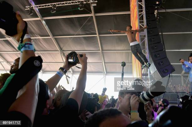 Slim Jimmy of Rae Sremmurd performs onstage during the 2017 Governors Ball Music Festival Day 2 at Randall's Island on June 3 2017 in New York City