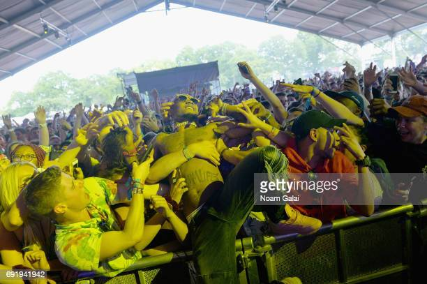 Slim Jimmy of Rae Sremmurd performs onstage during the 2017 Governors Ball Music Festival - Day 2 at Randall's Island on June 3, 2017 in New York...