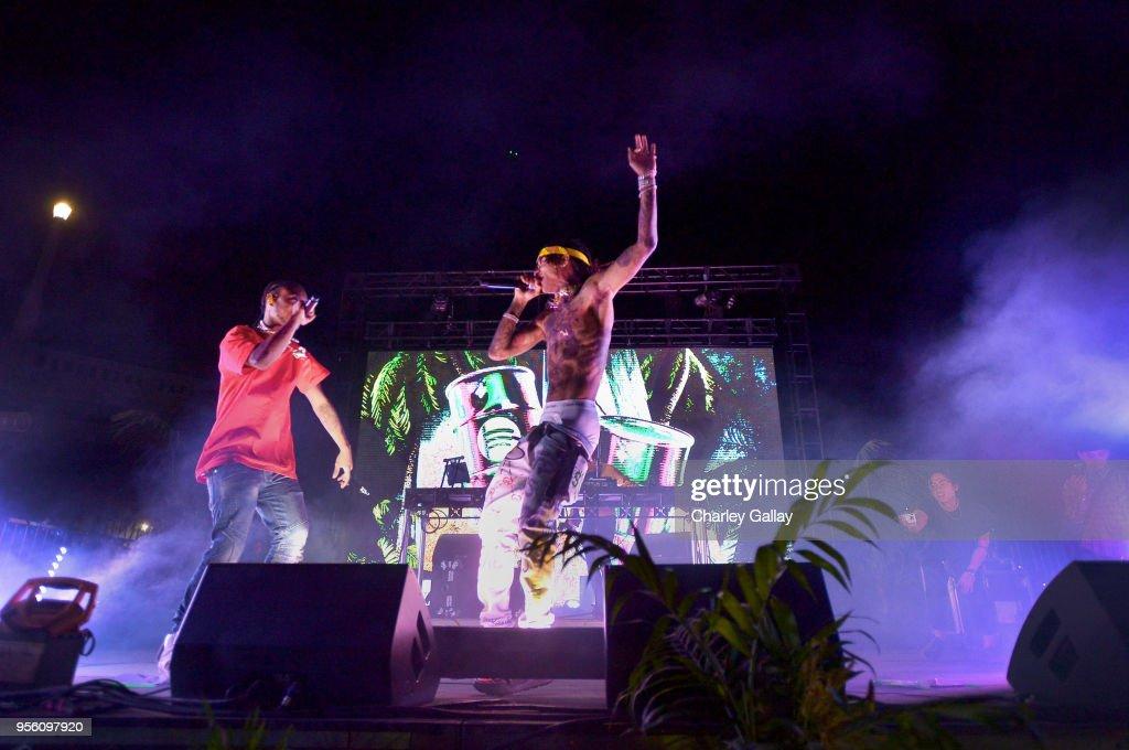 Spotify Hosts Sr3mmPocalypse Party with Performances by Rae Sremmurd : News Photo