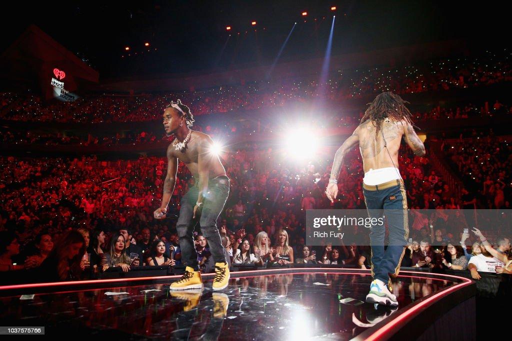 Slim Jxmmi and Swae Lee of Rae Sremmurd perform onstage