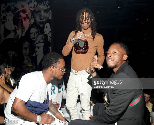 Slim Jxmmi and Swae Lee perform onstage during TAO Group's Big Game Takeover presented by Tongue Groove with Remy Martin on February 2 2019 in...