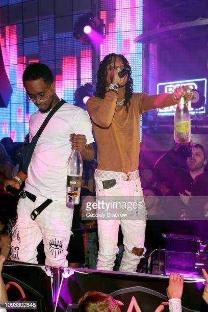 Slim Jxmmi and Swae Lee perform onstage during TAO Group's Big Game Takeover presented by Tongue Groove on February 2 2019 in Atlanta Georgia