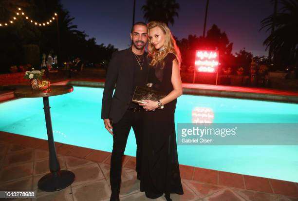 Slim Keskes and Dawn Miller attend the birthday celebration of Dita Von Teese at the private residence of Jonas Tahlin CEO Of Absolut Elyx on...