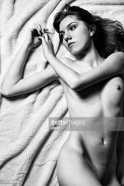 Slim Sensual Woman On Bed