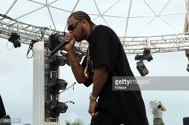 Slim Thug during 2005 MTV Video Music Awards Rehearsals Day 2 at American Airlines Arena in Miami Florida United States