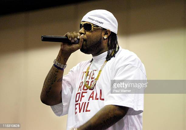 Slim Thug during Dub Magazine's 6th Annual 2006 Custom Auto Show and Concert at Cobo Hall in Detroit, Michigan, United States.