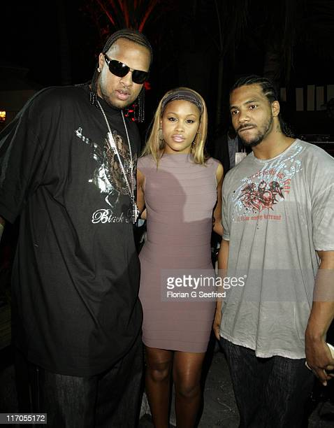 Slim Thug Eve and Polow Da Don during Radio One Spring Fest G Fest Presented by Interscope Records at KaruY in Miami Florida United States