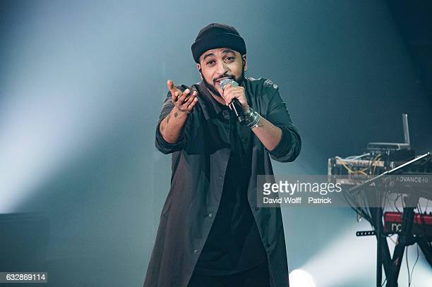 Slimane performs at La Cigale on January 27 2017 in Paris France