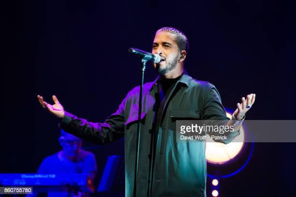 Slimane performs during Leurs Voix pour l' Espoir at L'Olympia on October 12 2017 in Paris France
