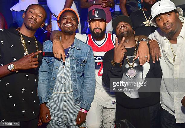 Slimm Calhoun Andre 3000 Kenny Burns Big Boi and CBoneattend at Compound on June 20 2015 in Atlanta Georgia