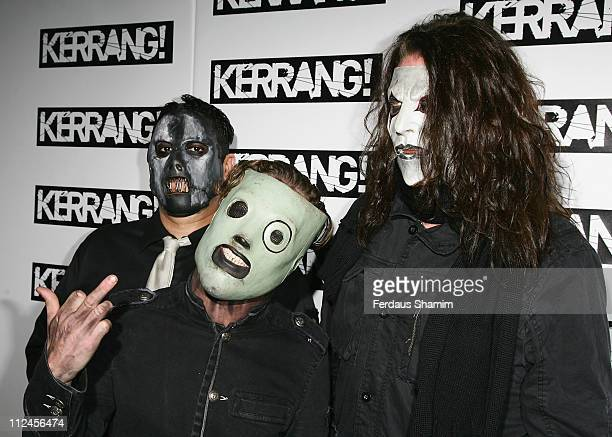 Slipknot attends The Kerrang Awards 2008 held at The Brewery on August 21 2008 in London England