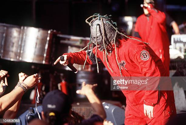 Slipknot Corey Taylor during Slipknot Performing At Ozzfest 2001 at Shoreline Amphitheatre in Mountain View California United States