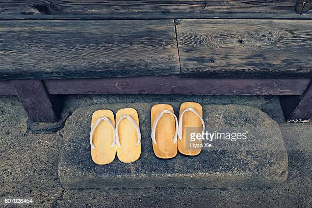Slippers at entrance
