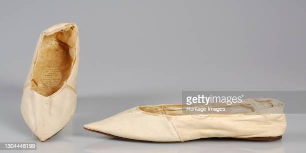 Slippers, British, 1800-1810. Artist Ealand.