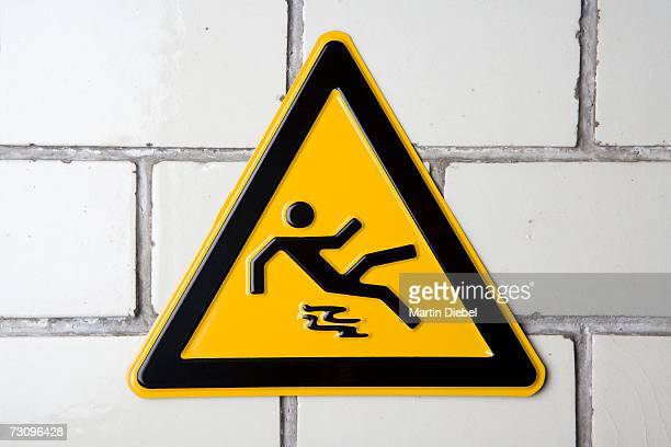 ?Slippery surface? warning sign