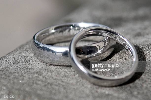 Sliver wedding bands