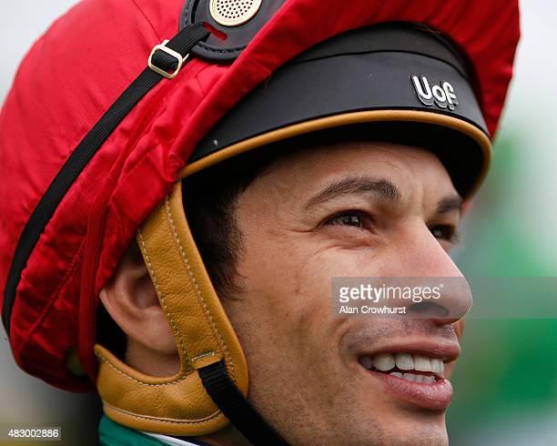 Slivestre De Sousa poses at Brighton racecourse on August 05 2015 in Brighton England