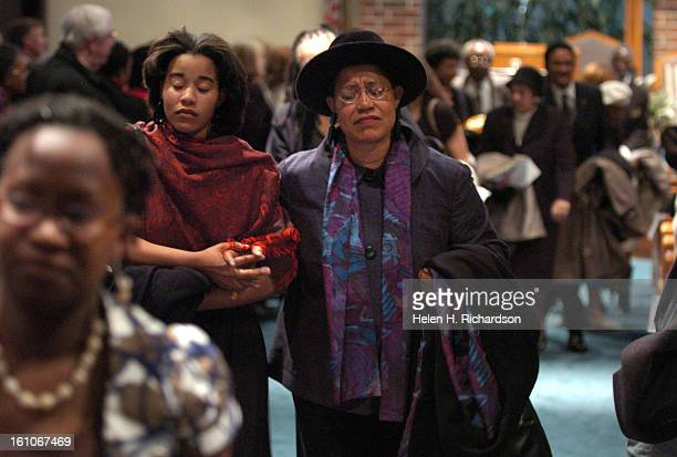 Sloan NoelJohnson <cq> left escorts her mother Angela Noel out of the church after the service Angela is the daughther of Rachenl Bassette Noel A...