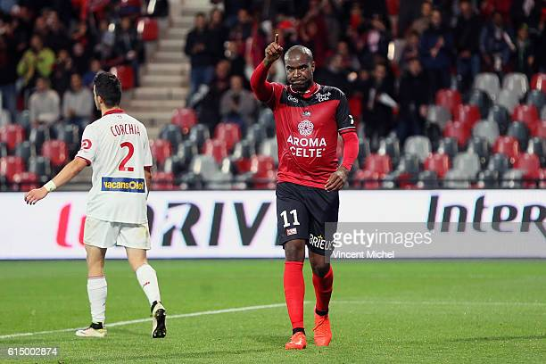 Sloan Privat of Guingamp during the Ligue 1 match between EA Guingamp and Lille OCS at Stade du Roudourou on October 15, 2016 in Guingamp, France.