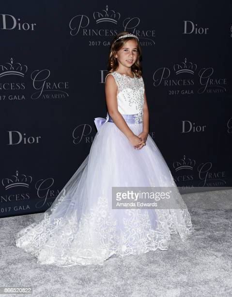 Sloane Levy arrives at the 2017 Princess Grace Awards Gala at The Beverly Hilton Hotel on October 25 2017 in Beverly Hills California