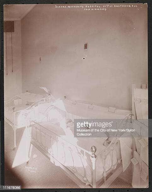Sloane Maternity Hospital 59th St Amsterdam Ave Crib in Nursery New York New York late 1890s