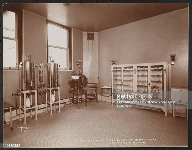 Sloane Maternity Hospital, 59th St Amsterdam Ave, Room Adjoining Room, New York, New York, late 1890s.