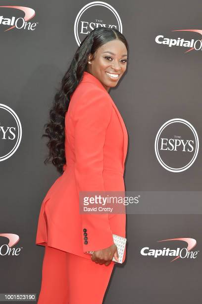Sloane Stephens attends The 2018 ESPYS at Microsoft Theater on July 18 2018 in Los Angeles California