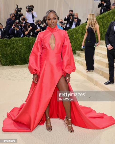 Sloane Stephens attends The 2021 Met Gala Celebrating In America: A Lexicon Of Fashion at Metropolitan Museum of Art on September 13, 2021 in New...